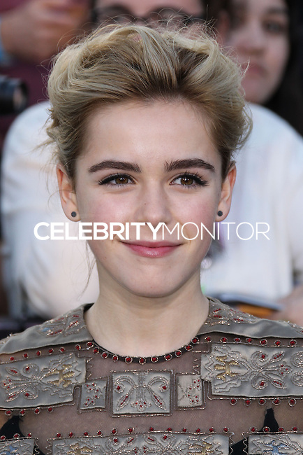 "WESTWOOD, LOS ANGELES, CA, USA - MARCH 18: Kiernan Shipka at the World Premiere Of Summit Entertainment's ""Divergent"" held at the Regency Bruin Theatre on March 18, 2014 in Westwood, Los Angeles, California, United States. (Photo by Xavier Collin/Celebrity Monitor)"