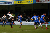 Danny Lloyd scores Peterborough United's first goal during Gillingham vs Peterborough United, Sky Bet EFL League 1 Football at the MEMS Priestfield Stadium on 10th February 2018