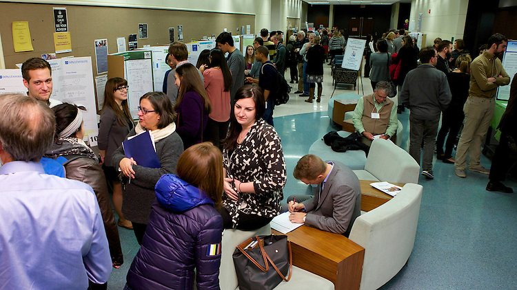 DePaul University students presented posters of their own research at the College of Science and Health's 12th Annual Natural Science Mathematics and Technology Undergraduate Research Showcase November 7th, 2014 in the McGowan South science building on the Lincoln Park campus. (DePaul University/Jeff Carrion)