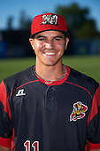 Batavia Muckdogs Mike Garzillo (11) poses for a photo before a game against the Hudson Valley Renegades on August 2, 2016 at Dwyer Stadium in Batavia, New York.  Batavia defeated Hudson Valley 2-1. (Mike Janes/Four Seam Images)