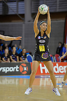 Grace Rasmussen in action during the ANZ Championship 2014 - Haier Pulse v Waikato Magic at Te Rauparaha  Arena Centre, Porirua, Wellington, New Zealand on Monday 5 May 2014. <br /> Photo by Masanori Udagawa. <br /> www.photowellington.photoshelter.com.