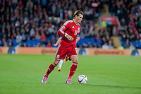 Wednesday 4th  December 2013 Pictured:Gareth Bale of Wales <br /> Re: UEFA European Championship Wales v Cyprus at the Cardiff City Stadium, Cardiff, Wales, UK
