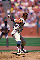 SAN FRANCISCO, CA - Dave Dravecky of the San Diego Padres in action during a game against the San Francisco Giants at Candlestick Park in San Francisco, California in 1987. Photo by Brad Mangin
