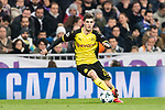 Borussia Dortmund Midfielder Christian Pulisic in action during the Europe Champions League 2017-18 match between Real Madrid and Borussia Dortmund at Santiago Bernabeu Stadium on 06 December 2017 in Madrid Spain. Photo by Diego Gonzalez / Power Sport Images