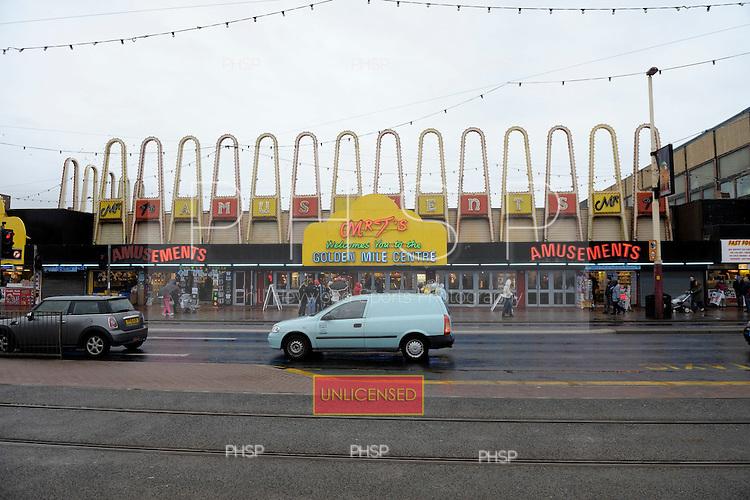 Mr T's Amusements,  Promenade, Blackpool Lancashire UK......© Phill Heywood.