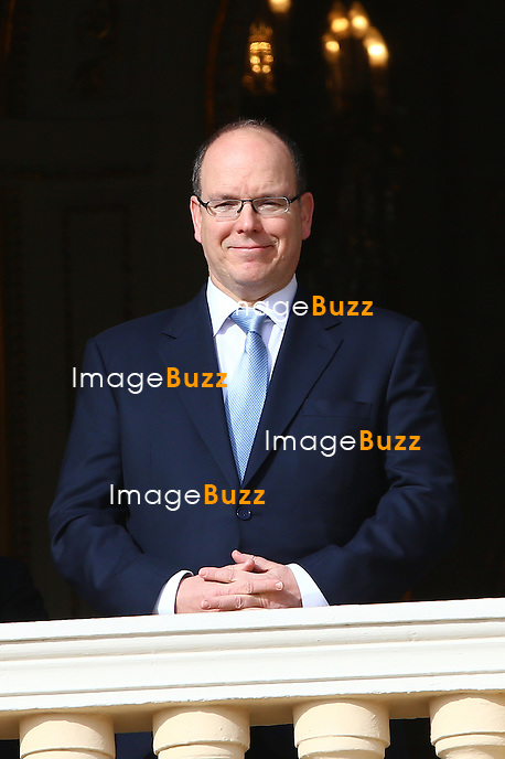 January 27, 2015 - Monte Carlo, MONACO - H. S. H Prince Albert II of Monaco attends the Sainte Devote Procession on the Palace Square from the balcony.