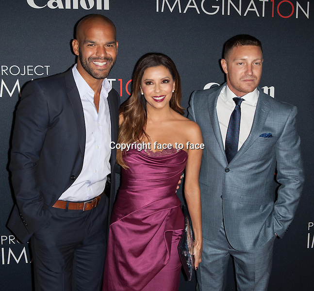 NEW YORK, NY - OCTOBER 24, 2013: Amaury Nolasco, Eva Longoria and Lane Garrison attend the Premiere Of Canon's Project Imaginat10n Film Festival at Alice Tully Hall on October 24, 2013 in New York City. <br />