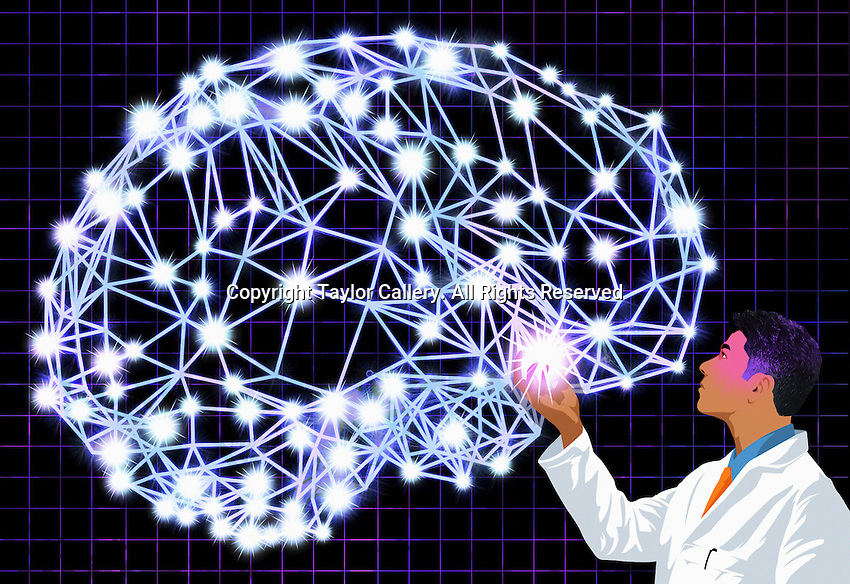 Doctor examining brain signals ExclusiveImage
