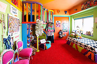 colorful funky bedroom