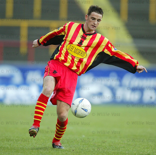Andy Gibson, Partick Thistle.Stock Season 2003-2004.pic willie vass