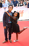 Issac Brown and Serenity Brown attends the 'Kings' premiere during the 2017 Toronto International Film Festival at Roy Thomson Hall on September 13, 2017 in Toronto, Canada.