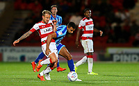 Blackpool's Curtis Tilt vies for possession with Doncaster Rovers' James Coppinger<br /> <br /> Photographer Alex Dodd/CameraSport<br /> <br /> The EFL Sky Bet League One - Doncaster Rovers v Blackpool - Tuesday September 17th 2019 - Keepmoat Stadium - Doncaster<br /> <br /> World Copyright © 2019 CameraSport. All rights reserved. 43 Linden Ave. Countesthorpe. Leicester. England. LE8 5PG - Tel: +44 (0) 116 277 4147 - admin@camerasport.com - www.camerasport.com