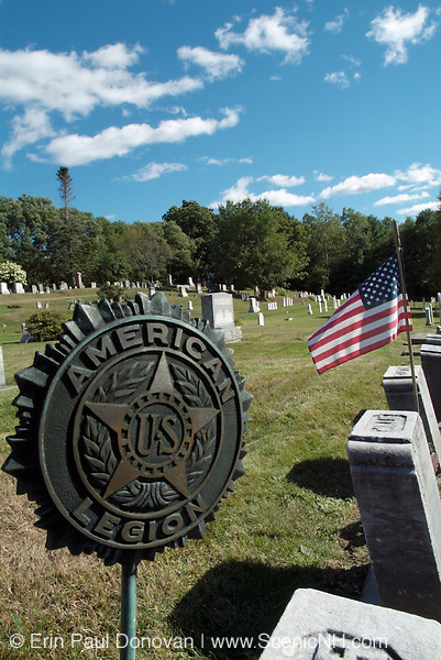 Old weathered headstones at Sunnyside Cemetery in the New Hampshire town of Sugar Hill.