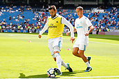 9th September 2017, Santiago Bernabeu, Madrid, Spain; La Liga football, Real Madrid versus Levante; Jose I Fernandez Iglesias (6) of Real Madrid Lucas Vaazquez Iglesias (17) of Real Madrid warming up