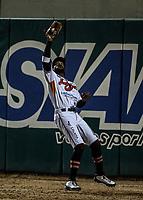Domonic Brown, durante juego de beisbol de la Liga Mexicana del Pacifico temporada 2017 2018. Tercer juego de la serie de playoffs entre Mayos de Navojoa vs Naranjeros. 04Enero2018. (Foto: Luis Gutierrez /NortePhoto.com)