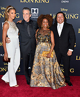 "LOS ANGELES, USA. July 10, 2019: Alfre Woodard, Roderick Spencer, Duncan Spencer & Mavis Spencer at the world premiere of Disney's ""The Lion King"" at the Dolby Theatre.<br /> Picture: Paul Smith/Featureflash"
