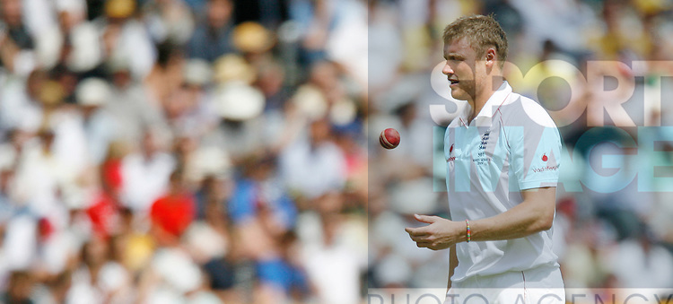 England's Andrew Flintoff in action