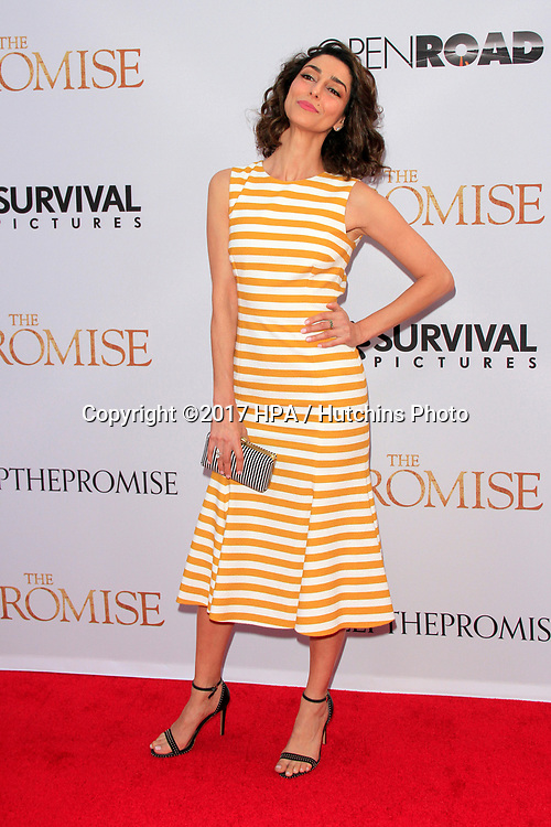 "LOS ANGELES - APR 12:  Necar Zadegan at the ""The Promise"" Premiere at the TCL Chinese Theater IMAX on April 12, 2017 in Los Angeles, CA"