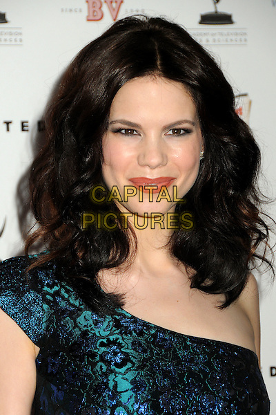 MARIANA KLAVENO.62nd Primetime Emmy Awards Nominee Reception held at the Pacific Design Center, West Hollywood, California, USA..August 27th, 2010.headshot portrait blue one shoulder black .CAP/ADM/BP.©Byron Purvis/AdMedia/Capital Pictures.