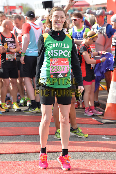 LONDON, ENGLAND - APRIL 24   Camilla Rutherford at the start of the 2016 Virgin Money London Marathon on Blackheath in London, England. 24th April 2016.<br /> CAP/JWP<br /> &copy;JWP/Capital Pictures