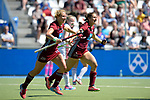 GER - Mannheim, Germany, May 27: During the women semi-final match between UHC Hamburg and Rot-Weiss Koeln at the Final4 tournament May 27, 2017 at Am Neckarkanal in Mannheim, Germany. (Photo by Dirk Markgraf / www.265-images.com) *** Local caption *** Eileen Hoffmann #11 of Uhlenhorster HC Hamburg, Marie Maevers #23 of Uhlenhorster HC Hamburg