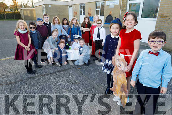 The students of Ardfert NS will host the production of Annie as their Christmas play this year.<br /> Front l to r: Sarah Lennon (Grace), Edele O'Connor (Annie) and John McCarthy (Daddy Warbucks).<br /> Kneeling l to r: Jamie Moriarty, Darragh Griffin, Sean Carney (In the box) and Josh Ennis.<br /> L to r: Muireann Lawlor, Caden Power, Emma Lawlor, Ethan Kelly, Jamie Fahy, Muireann Wiseman, Lucy Power, Fia Ferris, Ruby Wallace, Ada Breen and Noah Mason.