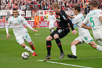 17.03.2019, BayArena, Leverkusen, GER, 1. FBL, Bayer 04 Leverkusen vs. SV Werder Bremen,<br />  <br /> DFL regulations prohibit any use of photographs as image sequences and/or quasi-video<br /> <br /> im Bild / picture shows: <br /> Maximilian Eggestein (Werder Bremen #35), im Zweikampf gegen  Julian Brandt (Leverkusen #10), <br /> <br /> Foto © nordphoto / Meuter