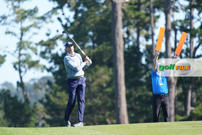Matt Kuchar (USA) at Spyglass Hill during the second round of the AT&T Pro-Am, Pebble Beach, Monterey, California, USA. 06/02/2020<br /> Picture: Golffile   Phil Inglis<br /> <br /> <br /> All photo usage must carry mandatory copyright credit (© Golffile   Phil Inglis)