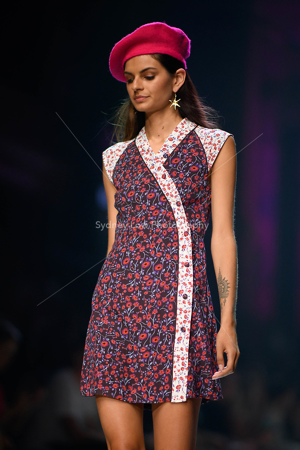 6 March 2018, Melbourne - Models showcase designs by Hansen & Gretel during the Runway 2 show presented by Elle Magazine at the 2018 Virgin Australia Melbourne Fashion Festival in Melbourne, Australia. (Photo Sydney Low / asteriskimages.com)