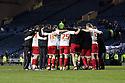 Stevenage victory huddle. - Sheffield Wednesday v Stevenage - npower League 1 - Hillsborough, Sheffield - 14th February 2012  .© Kevin Coleman 2012