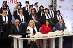 Advisor to Palestinian Prime Minister Khairia Rasas attends 17th annual graduation ceremony in the West Bank city of Ramallah, on  May 5, 2018. Photo by Prime Minister Office