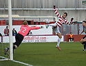 27/11/2010   Copyright  Pic : James Stewart.sct_jsp018_hamilton_v_st_mirren  .::  MARCO PAIXAO KNOCKS THE BALL OVER FROM CLOSE RANGE ::.James Stewart Photography 19 Carronlea Drive, Falkirk. FK2 8DN      Vat Reg No. 607 6932 25.Telephone      : +44 (0)1324 570291 .Mobile              : +44 (0)7721 416997.E-mail  :  jim@jspa.co.uk.If you require further information then contact Jim Stewart on any of the numbers above.........