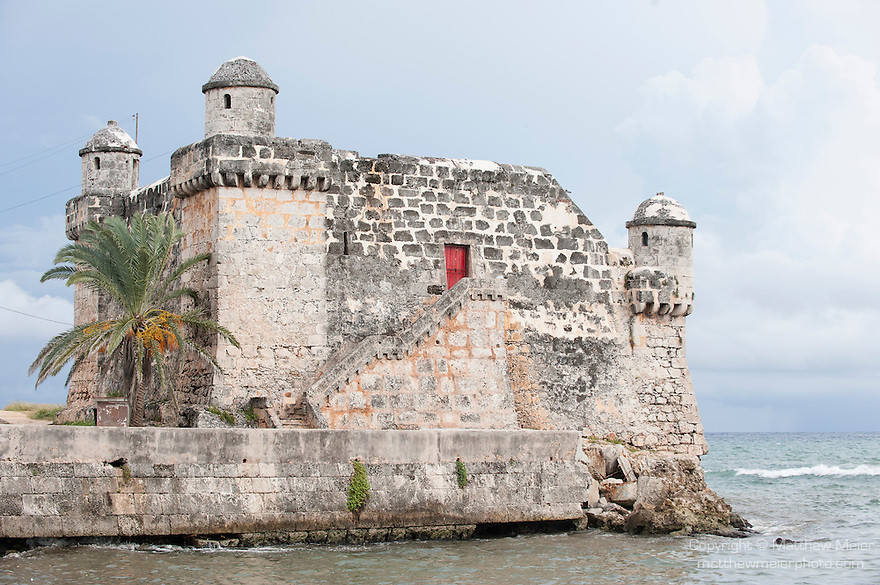 Cojimar, Cuba; built in 1646, this fort was erected as the eastern most defense point of Havana and was designed by Giovanni Bautista Antonelli, Cojimar is the setting for Ernest Hemingway's The Old Man and the Sea novel