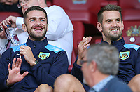 Burnley's Tom Heaton and Robbie Brady watch on from the stands<br /> <br /> Photographer Alex Dodd/CameraSport<br /> <br /> UEFA Europa League - Europa League Qualifying Round 2 2nd Leg - Burnley v Aberdeen - Thursday 2nd August 2018 - Turf Moor - Burnley<br />  <br /> World Copyright © 2018 CameraSport. All rights reserved. 43 Linden Ave. Countesthorpe. Leicester. England. LE8 5PG - Tel: +44 (0) 116 277 4147 - admin@camerasport.com - www.camerasport.com