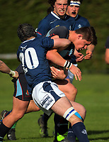 Action from the 2017 1st XV rugby Top Four co-ed semfinal between St Peter's School Cambridge and St Andrew's College (Christchurch) at Sports and Rugby Institute in Palmerston North, New Zealand on Friday, 8 September 2017. Photo: Dave Lintott / lintottphoto.co.nz