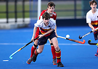 Action from the India Shield final between John McGlashan College and St Bedes College during the Rankin Cup and India Shield 2019 Secondary School Hockey Tournament, Nga Puna Wai Sports Hub, Christchurch, Saturday 07 September 2019. Photo: Martin Hunter/Hockey NZ