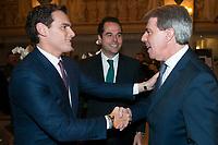 Albert Rivera, Ignacio Aguado and Angel Garrido, yesterday left the Popular Party (PP) to join the party Ciudadanos