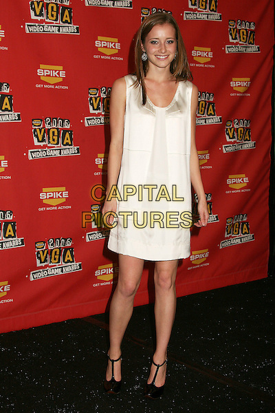 CANDACE BAILEY.Spike TV's 2006 Video Game Awards at the Galen Center - Press Room, Los Angeles, California, USA..December 8th, 2006.full length white sleeveless dress .CAP/ADM/BP.©Byron Purvis/AdMedia/Capital Pictures
