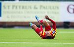 S&ouml;dert&auml;lje 2014-05-18 Fotboll Superettan Syrianska FC - Hammarby IF :  <br /> Syrianskas Yussuf Saleh har skadat sig och har ont<br /> (Foto: Kenta J&ouml;nsson) Nyckelord:  Syrianska SFC S&ouml;dert&auml;lje Fotbollsarena Hammarby HIF Bajen skada skadan ont sm&auml;rta injury pain