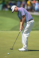Bethesda, MD - June 25, 2016:  Bill Haas (USA) attempts a putt during Round 3 of professional play at the Quicken Loans National Tournament at the Congressional Country Club in Bethesda, MD, June 25, 2016.  (Photo by Elliott Brown/Media Images International)