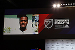 15 January 2015: Cyle Larin (Connecticut) was selected first overall by Orlando City SC. Larin was not present, but the league played recorded remarks on the video board. The 2015 MLS SuperDraft was held at the Pennsylvania Convention Center in Philadelphia, Pennsylvania.