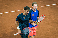 The Hague, The Netherlands, September 12, 2017,  Sportcampus , Davis Cup Netherlands - Chech Republic, Training Dutch team, Haase / Middelkoop (R)<br /> Photo: Tennisimages/Henk Koster