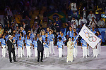 (L-R) Eduardo Paes, Thomas Bach  Yuriko Koike, AUGUST 21, 2016 : Closing Ceremony at Maracana during the Rio 2016 Olympic Games in Rio de Janeiro, Brazil. (Photo by Yusuke Nakanishi/AFLO SPORT)