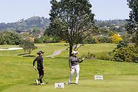 Caryn Khoo and Doey Choi. New Zealand Amateur Golf Championship, Remuera Gold Club, Auckland, New Zealand. Sunday 3rd st November 2019. Photo: Greg Bowker/www.bwmedia.co.nz/NZGolf<br /> COPYRIGHT:© www.bwmedia.co.nz