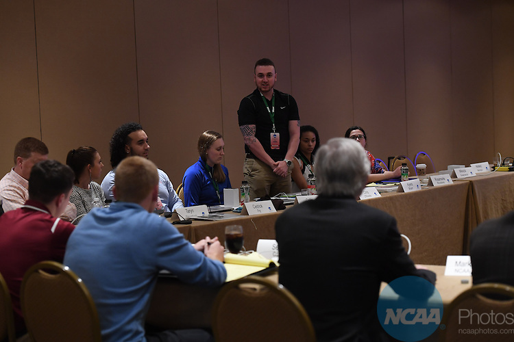 17 JAN 2017:  The NCAA Division III SAAC meeting takes place during the 2017 NCAA Convention takes place at the Gaylord Opryland Resort & Convention Center in Nashville, TN. Justin Tafoya/NCAA Photos (Pictured: Chris O'Rourke)