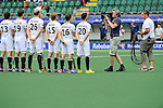 The Hague, Netherlands, June 10: Players of Germany line up prior to the field hockey group match (Men - Group B) between Germany and Korea on June 10, 2014 during the World Cup 2014 at Kyocera Stadium in The Hague, Netherlands. Final score 6-1 (3-0) (Photo by Dirk Markgraf / www.265-images.com) *** Local caption ***