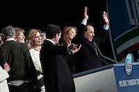 Milano: Silvio Berlusconi al Palasharp, durante la campagna elettorale per l'elezione del sindaco di Milano.