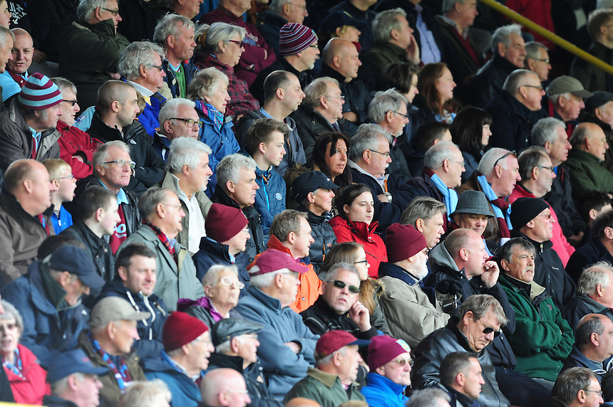 Burnley fans during the second half<br /> <br /> Photographer Chris Vaughan/CameraSport<br /> <br /> Football - Barclays Premiership - Burnley v Stoke City - Saturday 16th May 2015 - Turf Moor - Burnley<br /> <br /> &copy; CameraSport - 43 Linden Ave. Countesthorpe. Leicester. England. LE8 5PG - Tel: +44 (0) 116 277 4147 - admin@camerasport.com - www.camerasport.com