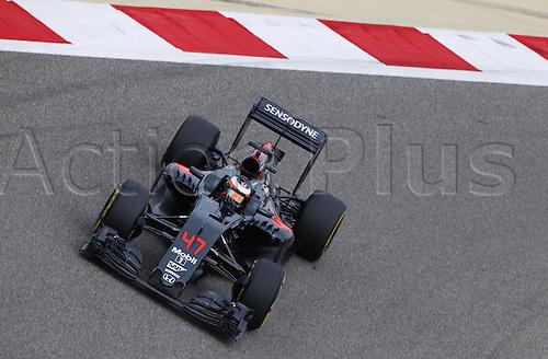 01.04.2016. Bahrain. FIA Formula One World Championship 2016, Grand Prix of Bahrain, Practise day. 47 Stoffel Vandoorne (BEL, McLaren Honda Formula 1 Team)