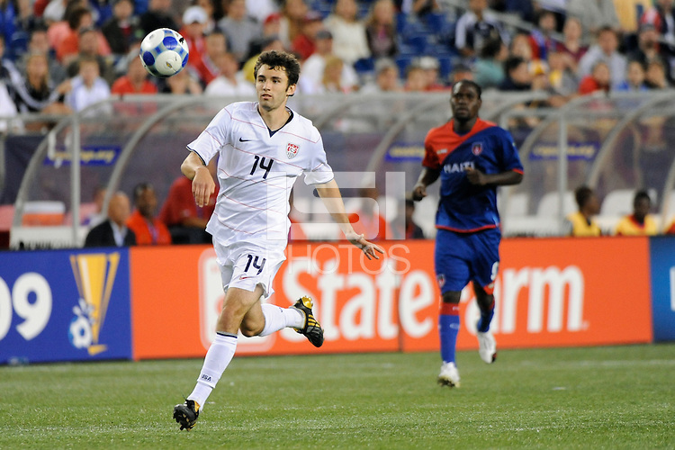Michael Parkhurst (14) of the United States (USA). The United States and Haiti played to a 2-2 tie during a CONCACAF Gold Cup Group B group stage match at Gillette Stadium in Foxborough, MA, on July 11, 2009. .